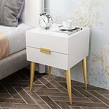 Tbaobei-Baby Bedside Table Double Drawer