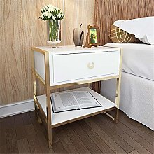 Tbaobei-Baby Bedside Table White Side Table Wood