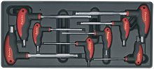 TBT06 Tool Tray with T-Handle Ball-End Hex Key Set
