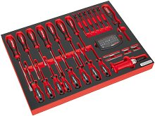 TBTP04 Tool Tray with Screwdriver Set 72pc - Sealey