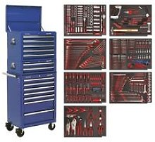 TBTPCOMBO5 Tool Chest 14 Drawer with Bearings Blue