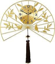 TBUDAR Metal Wall Clock Gold Wrought Iron Shell