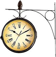 TBUDAR Outdoor Garden Clock,Double Sided Wall
