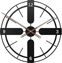 TBUDAR Retro Wrought Iron Wall Clock, Silent Clock