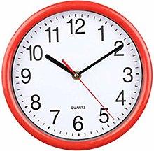 TBUDAR Simple Round 21.5Cm White Background Clock