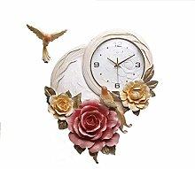 TBUDAR Wall Clock 3D Embossed Wall Clock, Modern