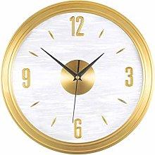 TBUDAR Wall Clock Light Luxury Pure Copper Round