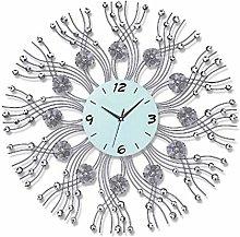 TBUDAR Wall Clock Modern Wrought Iron Decorative