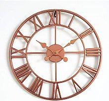 TBUDAR Wall Clock Retro Roman Numerals Round Wall