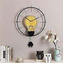 TBUDAR Wall Clock With Plug Shape Pendulum, Solid