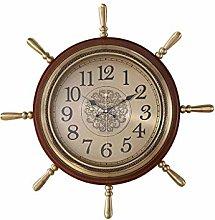 TBUDAR Wall Clock Wooden Wall Clock American