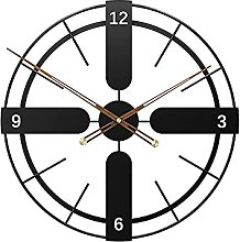 TBUDAR Wrought Iron Retro,Silent Round Clocks