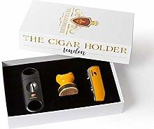 TCHCIGARS Yellow Cigar Accessories Cigar Torch