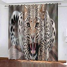 TDYGFC Blackout Curtains 2 Panels Set Animal