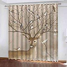 TDYGFC Blackout Curtains 2 Panels Set Animal elk
