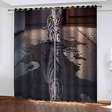 TDYGFC Blackout Curtains 2 Panels Set Animal kitty
