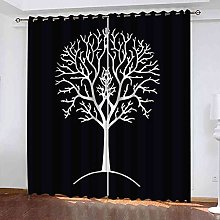 TDYGFC Blackout Curtains 2 Panels Set Black and