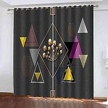 TDYGFC Blackout Curtains 2 Panels Set Creative