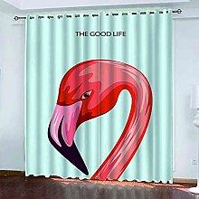 TDYGFC Blackout Curtains 2 Panels Set Flamingo