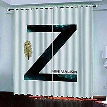 TDYGFC Blackout Curtains 2 Panels Set Golden leaf