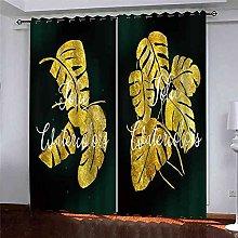TDYGFC Blackout Curtains 2 Panels Set Golden