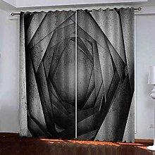 TDYGFC Blackout Curtains 2 Panels Set Grey
