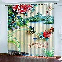 TDYGFC Blackout Curtains 2 Panels Set Landscape
