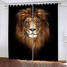 TDYGFC Blackout Curtains 2 Panels Set Lion animal
