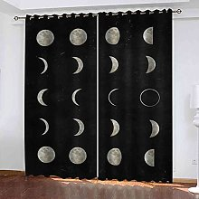 TDYGFC Blackout Curtains 2 Panels Set Moon change