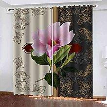 TDYGFC Blackout Curtains 2 Panels Set Pink flower