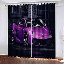 TDYGFC Blackout Curtains 2 Panels Set Purple