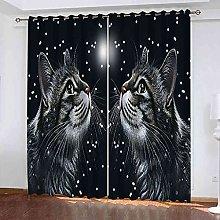 TDYGFC Blackout Curtains 2 Panels Set Starry sky