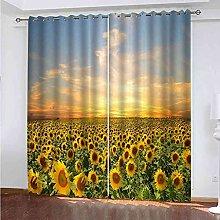 TDYGFC Blackout Curtains 2 Panels Set Sunflower