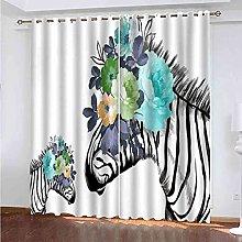 TDYGFC Blackout Curtains 2 Panels Set Watercolor