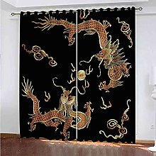 TDYGFC Blackout Curtains 2 Panels Set Yellow