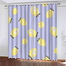 TDYGFC Blackout Curtains 2 Panels Set Yellow fruit