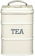 Tea Canister 11 x 17cm Cream (Pack of 2)
