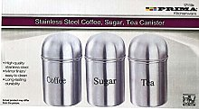 Tea Coffee Sugar Box Jars Caddy Canister Red Black