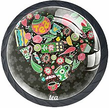 Tea Heart Deep Gray 4 Pieces Crystal Glass