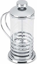 Tea Pot, Stainless Steel Glass Cafetiere French