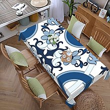 Tea Table Dining Tablecloth Classic Blue Floral