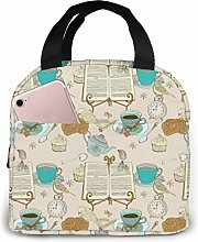 Tea Time Cooler Lunch Bag Office Work Picnic