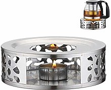 Tea Warmer,Stainless Steel Warmer Base,Round Tea