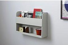Teagan Wall Shelf Isabelle & Max Finish: Light Grey