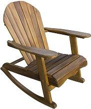 Teak Adirondack Rocking Chair - Wooden Outdoor