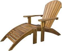 Teak Hardwood Adirondack Patio Garden Chair with