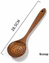 Teak Natural Wood Tableware Spoon ladle Long Rice