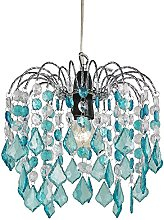 Teal Acrylic Easy Fit Pendant Light Shade with