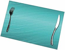 Teal Aqua Print Placemats - Dining Table Place