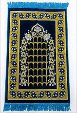 TEAL BLUE Beautiful Nice Quality Turkish Prayer